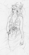 sketch of Teyla